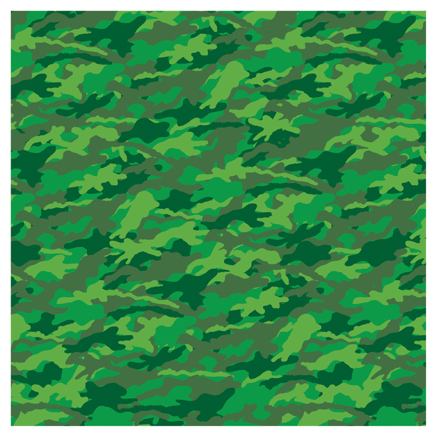 SKINZ: Camo Book Cover - Green (45cm x 1m)