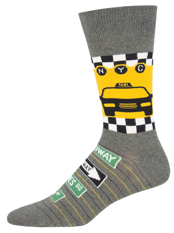 Socksmith: NYC Taxi - Grey Heather