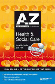 A-Z Health and Social Care Handbook by Judy Richards image