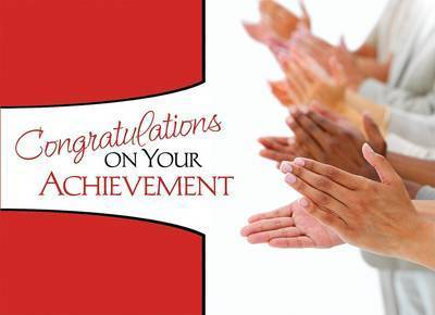 Congratulations on Your Achievement by Kathy Shutt