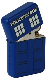 Police Box Windproof Lighter - Matte Blue