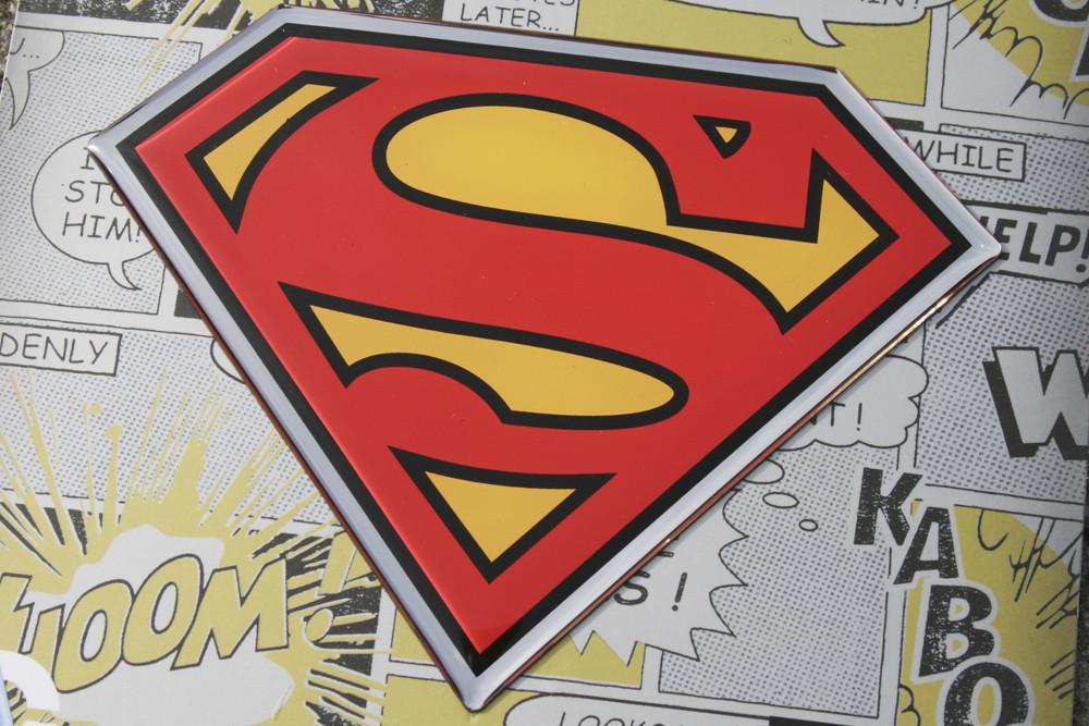 Superman Premium 3D Chrome - Colour/Chrome image