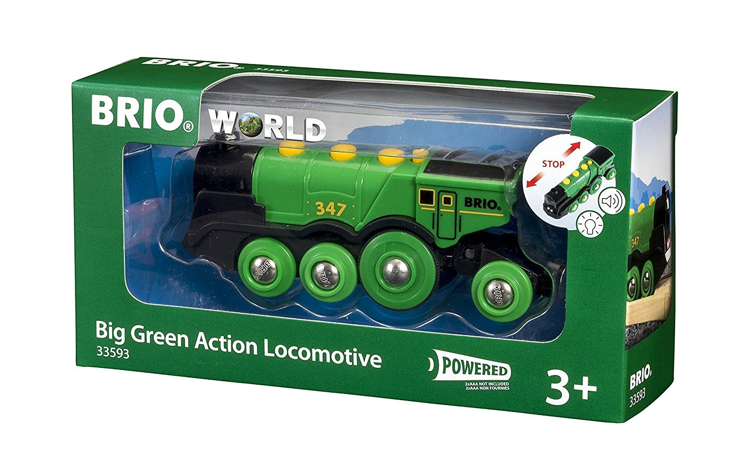 Brio: Big Green Locomotive - Action Train image