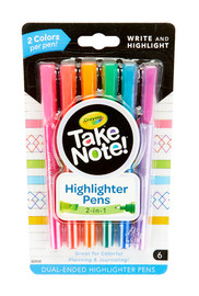 Crayola: Take Note - Dual-Ended Highlighter Pens (6 Pack) image