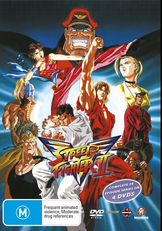 Street Fighter II V - The Complete Series (4 Disc Box Set) on DVD