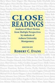 Close Readings by Robert Evans
