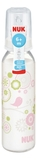NUK: Classic Glass Bottle With Size 2 Teat (230ml) - White