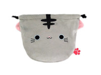 Neko Dango Drawstring Purse - Saba
