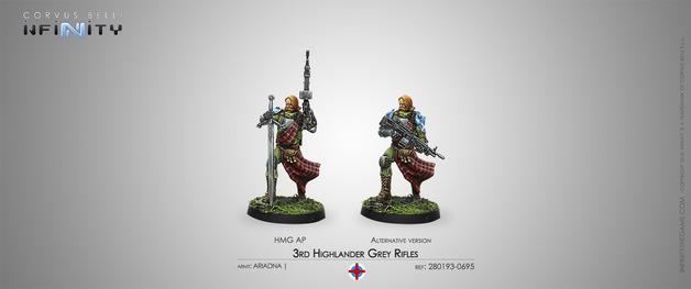 Infinity: 3rd Highlander Grey Rifles (HMG)