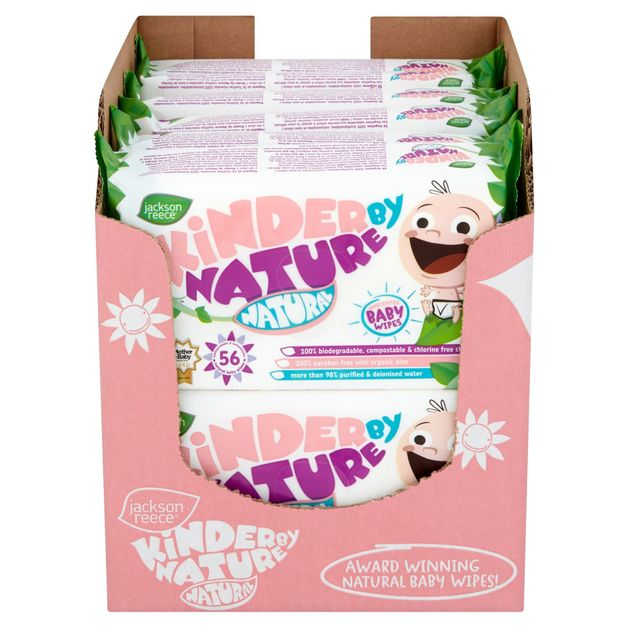 Kinder by Nature: Natural Unscented Wipes (Bulk 56 x 12)