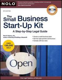 The Small Business Start-Up Kit: A Step-By-Step Legal Guide by Peri Pakroo image