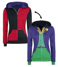 DC Comics: Harley Quinn/Joker Reversible Hoodie (Medium)