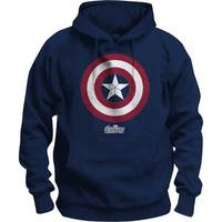Avengers Infinity War Captain America Icon Pop Mens Navy Hoodie:Medium image