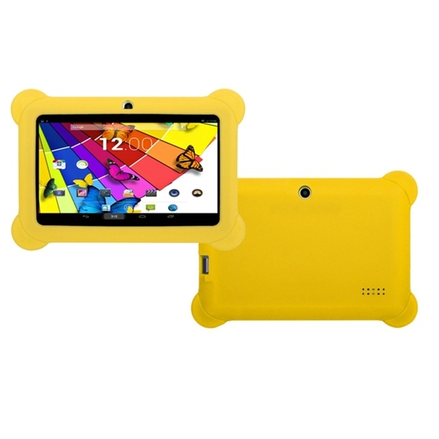 """7"""" QuadCore Kids Android Tablet & Case - Yellow"""