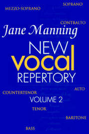 New Vocal Repertory 2 by Jane Manning