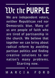 We the Purple: Faith, Politics, and the Independent Voter by Marcia Ford image