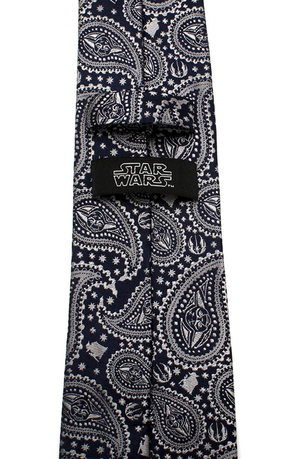 Yoda (Navy) - Paisley Men's Tie image