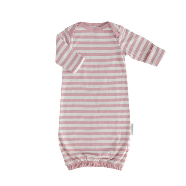 Woolbabe: Merino/Organic Cotton Gown - Dusk /0-3 Months