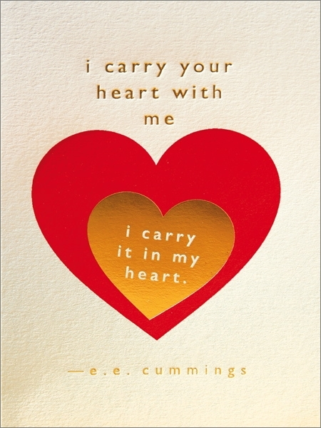 Archivist: Carry Your Heart Foil Greeting Card image