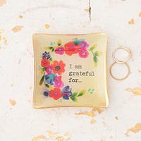 Natural Life: Mini Glass Tray - I Am Grateful For