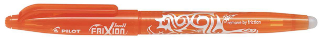 Pilot Frixion Ballpoint Pen - Orange