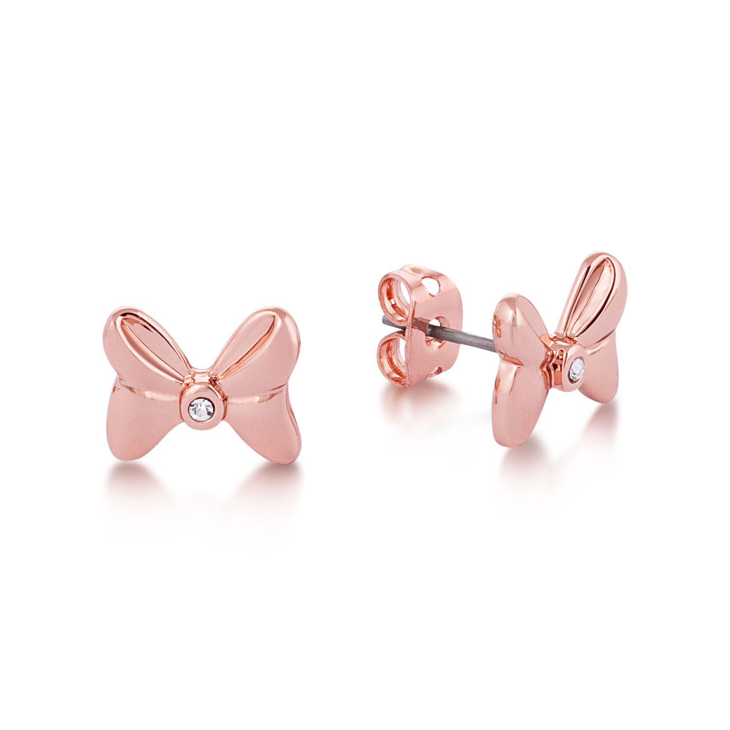 Couture Kingdom: Disney Minnie Bow Stud Earrings - Rose Gold image