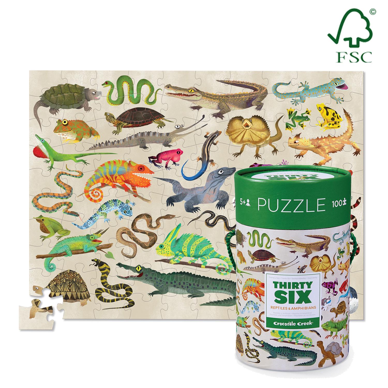 Crocodile Creek 36 Animal Puzzle Dinosaurs 100pc image