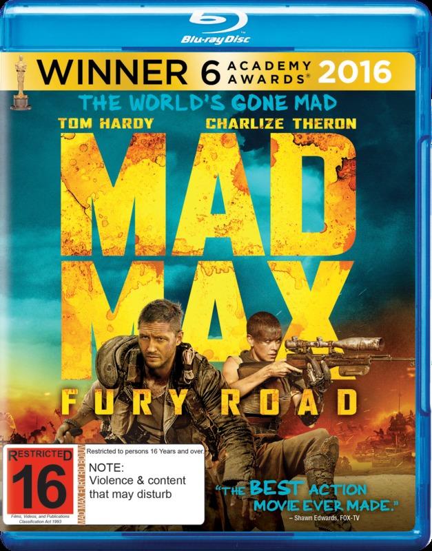 Mad Max: Fury Road on Blu-ray