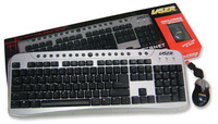 Laser Internet multimedia keyboard with mini  optical wheel mouse usb image