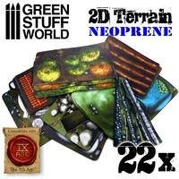 9th Age 2D Terrain set - 22 pieces