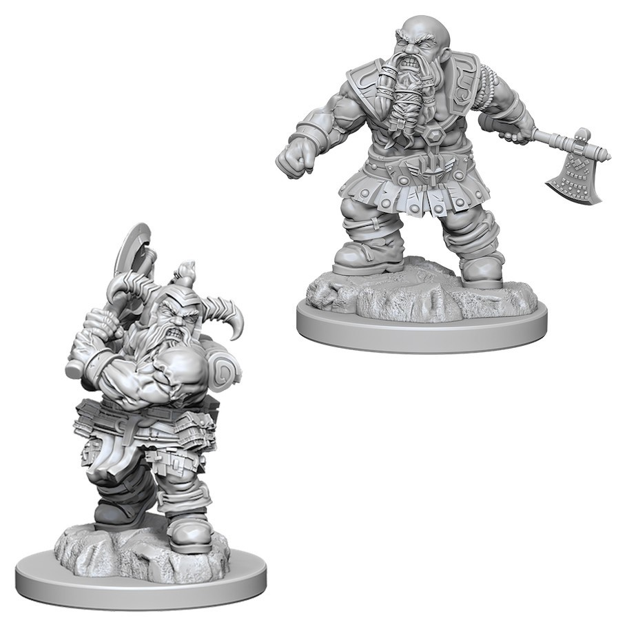 D&D Nolzurs Marvelous: Unpainted Miniatures - Male Dwarf Barbarian image