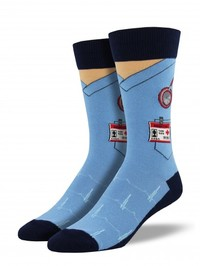 Mens Scrubs Socks - Blue
