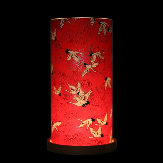 Big Glass Lantern Sky of Cranes (Red)