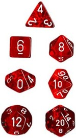 Chessex Translucent Polyhedral Dice Set - Red