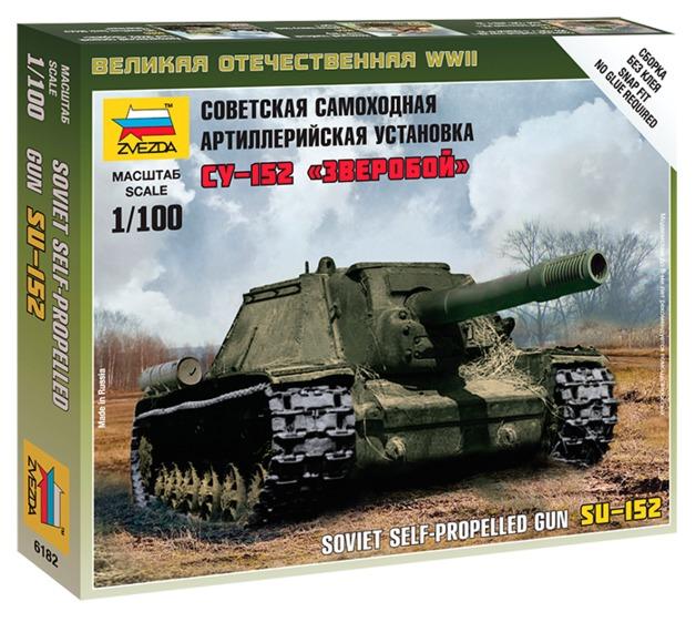 Zvezda: 1/100 SU-152 Self-Propelled Howitzer - Model Kit