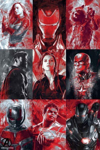 Avengers Endgame Maxi Poster - Character Grid (1015)