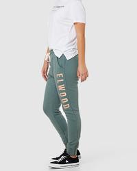 Elwood: Womens Huff N Puff Trackpants - Hunter Green (10)