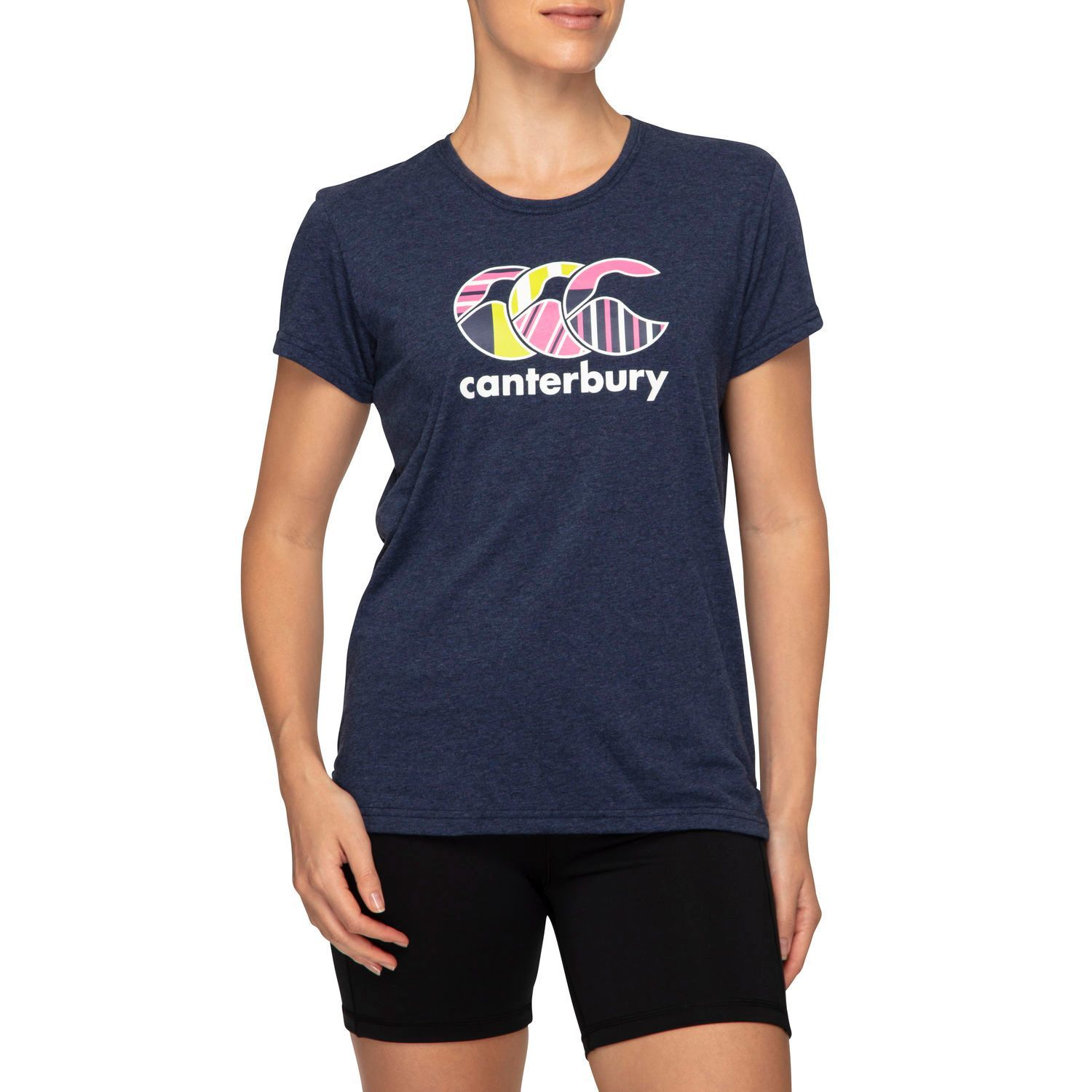 Canterbury: Womens CCC Uglies Tee - Navy Marl (Size 14) image