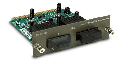 D-LINK DES-102F, 2 PORT 100FX MODULE FOR 1016R+/1024R+ SWITCH