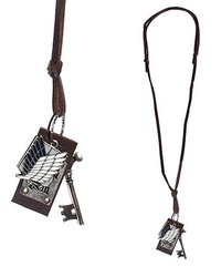 Attack on Titan: Scout Themed Charms - Leather Necklace