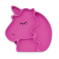 Bumkins: Silicone Grip Dish - Unicorn image
