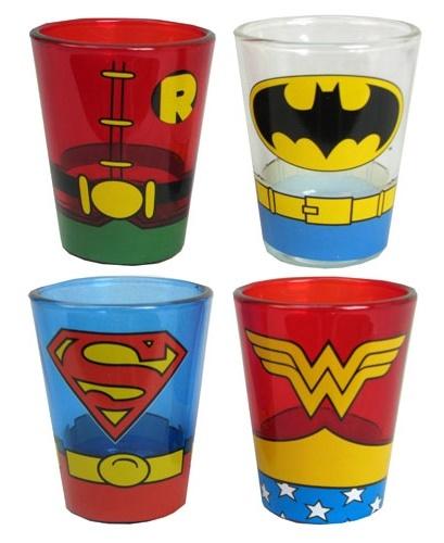 DC Comics Uniform - Mini Glass Set