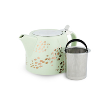 Harper Champagne Dots Ceramic Teapot & Infuser image
