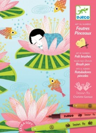 Djeco: Design - Felt Brushes - Nymphea