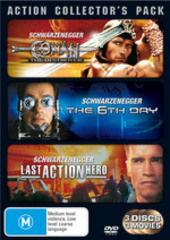 Action Collector's Pack (Conan The Destroyer / 6th Day / Last Action Hero) (3 Disc Set) on DVD