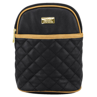 Isoki: Bottle Bag Ayr Insulated - Black/Tan Quilted