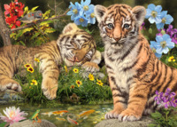 Holdson: 300-Piece XL Puzzle - Gallery S7 (Tiger Cubs)