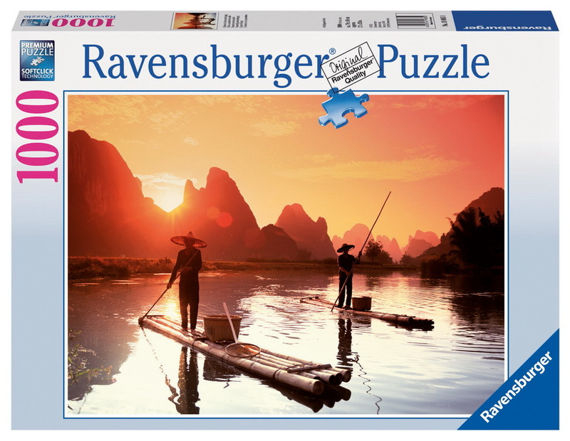 Ravensburger 1000 piece jigsaw puzzle fishermen in the for Fishing net crossword clue