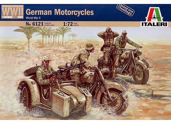 Italeri German Motorcycles (WWII) 1:72 Model Kit