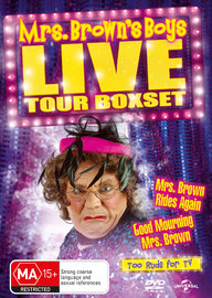 Mrs. Brown's Boys LIVE Tour Boxset (Mrs. Brown Rides Again / Good Mourning Mrs. Brown) on DVD